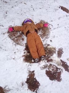 khloe snow angel